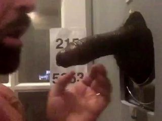Tall Sexy DL BBC Drained at Gloryholes in Philadelphia