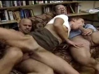 German Incest: Father fucks daughter, son joins in