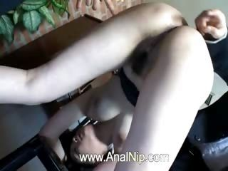 Unique Asian Slut Masturbated