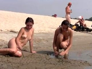 Nudist Beach Brings The Best Out Of Two Hot Girls (3)