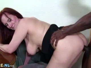 Horny Red Mature Slut Getting Fucked By A Hard Black Cock (2)