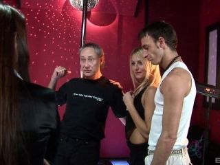 Two Naughty Strippers Get Fucked Hard By Two Older Customers In A Foursome (2)
