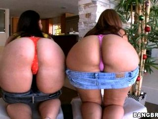 Alex Casio and Nikki Skye showing off their phat asses