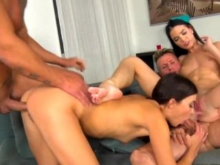 Anal Cock Swapping With Girls In Love With Foursome