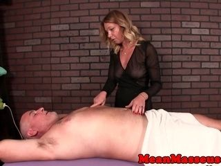 Femdom Masseuse Humiliating Guy With Hj (2)