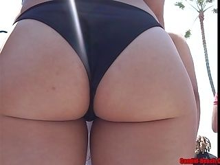Big Ass Latina Bikini Close Up HD Voyeur Video