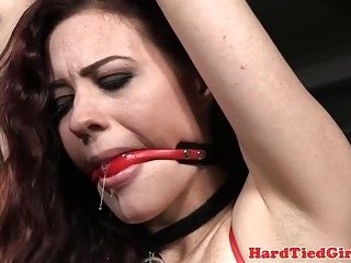 BDSM sub canned while tied up with rope (3)
