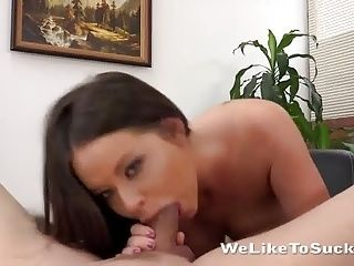 Hair Pulling And Deepthroat For Big Tit Slut (4)