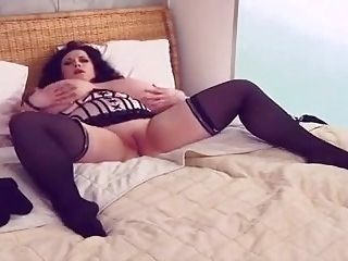 Gorgeous Busty Bbw Plays With Herself