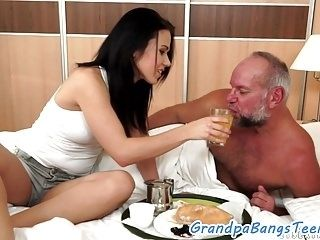 Gorgeous Bigtits Babe Loves Old Guys Dick  (4)