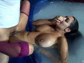 Babes In Bikinis Battle With Batons Before An Amazing Orgy (2)