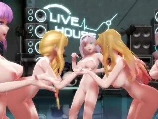 GROUP OF NAKED GIRL DANCE TOGETHER SO HOT