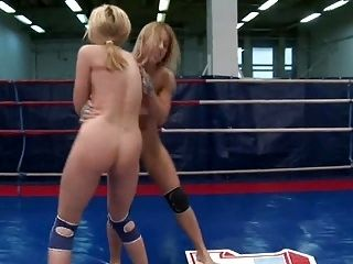 Lesbian Nude Wrestling Competition Part III