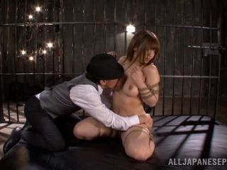 Japanese BDSM with ropes and nipple clamps!