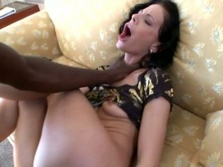 Slutty Brunette Gets Her Muff Mercilessly Fucked In Missionary Position