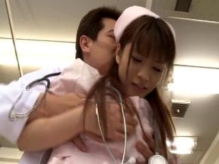 Cute Asian in uniform giving huge dick blowjob superbly