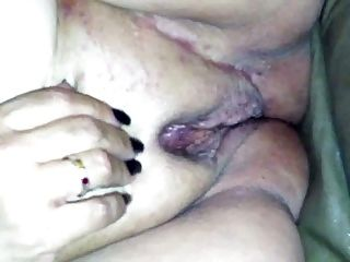 Shaved Fat Pussy Rubbed to Orgasm