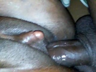 Ebony With Big Clit Likes It In Both Holes.