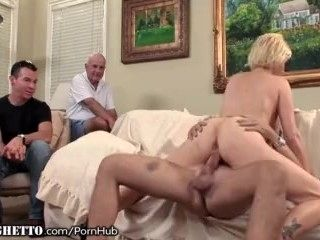 Mature Amateur Assfucked as Husband Watches (3)