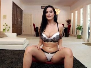 Brunette With Big Tits Enjoying A Hardcore Interracial Fuck In Her Living Room