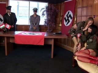 Nazi Chicks Get Fucked In The Office Of Their Commanding Officer (2)