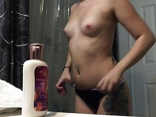 Teen Roommate Busted in the bathroom! 1st attempt