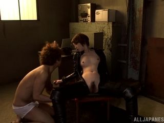 Naughty Chick Dressed In Latex Gets Her Pussy Creampied In A Gangbang.
