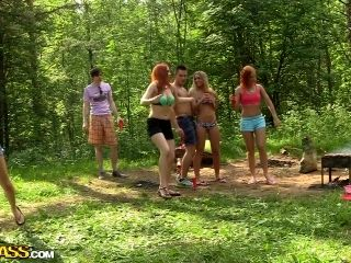 Dominika & Eva Berder & Jenny & Penny & Rita-Moor & Sabrina in hot college sex video made in the outdoors (2)