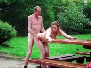 Grandfather Fucks The Hot Maid Fingers Her Young Pussy And Gets Blowjob (3)