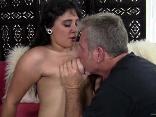 Lustful Brunette Giving A Steamy Blowjob Before Being Drilled Hardcore In A Close Up Shoot
