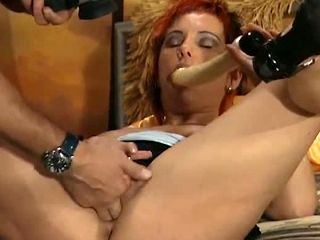 Sex Crazed Housewife Works Her Pussy Magic On Her Lover's Meat Stick