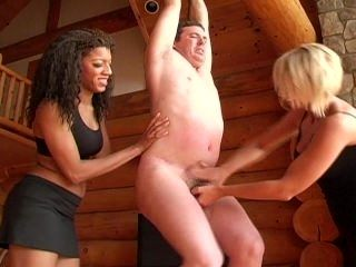 Tied up & Ballbusted by 2 Mistress (Femdom CBT Ballbusting)