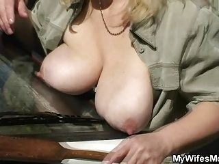 His Wife Finds Them Fucking Outside (3)
