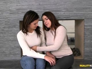 Brunette Lesbian Makes A Friend's Fantasies Come True With Oral Sex