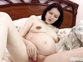 Pregnant Anastasia Fingers Her Wet Pussy! (2)