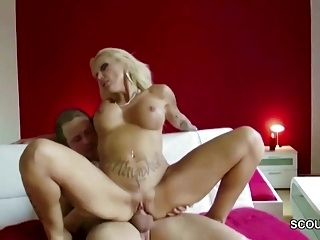German Hottest MILF in Real Sex-Date with Big Cock Stranger