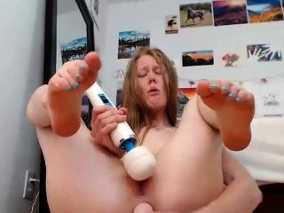 Ugly Cam Girl With Toys (2)