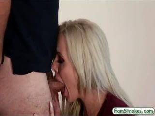 Huge boobs blonde milf nailed by stepson