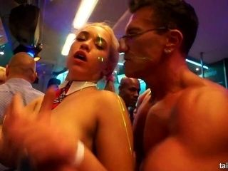 Naked Babes Dancing And Fucking In Club (2)
