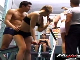 Group Sex Session With Horny Babes Who Like Shagging In A Gym