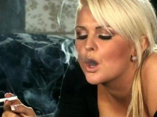 Blond Smoking Sexy