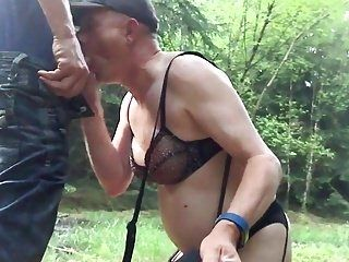 More Outdoor Cock Sucking