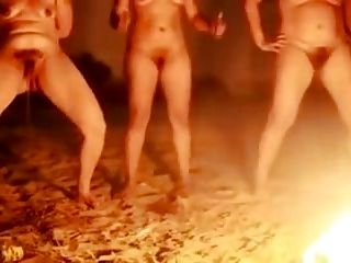 Brazilian Matures Pissing Around The Fire !