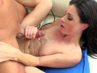She Has Her Humble Bust Creamed After Wild Fucking