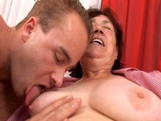 Fatty Granny With Saggy Boobs Boned Brutally In A Doggy Pose