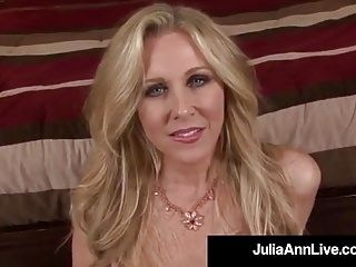 Dirty Talking Milf Julia Ann Sucks Your Hard Wet Cock POV!