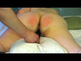 Paddled Red Ass Naughty BBW Slut
