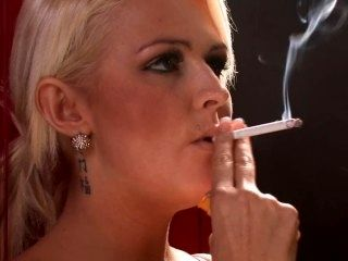 Simone Toon - Smoking 120s in Lingerie