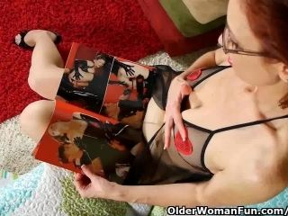 Pantyhosed Milf With Hard Nipples Fucks Herself With A Dildo (2)