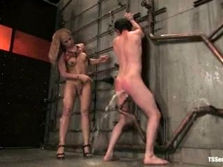 Eddy gets tortured and fucked by insatiable tranny Jessica Host